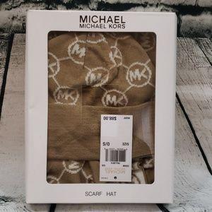 NWT Michael Michael Kors scarf and hat set